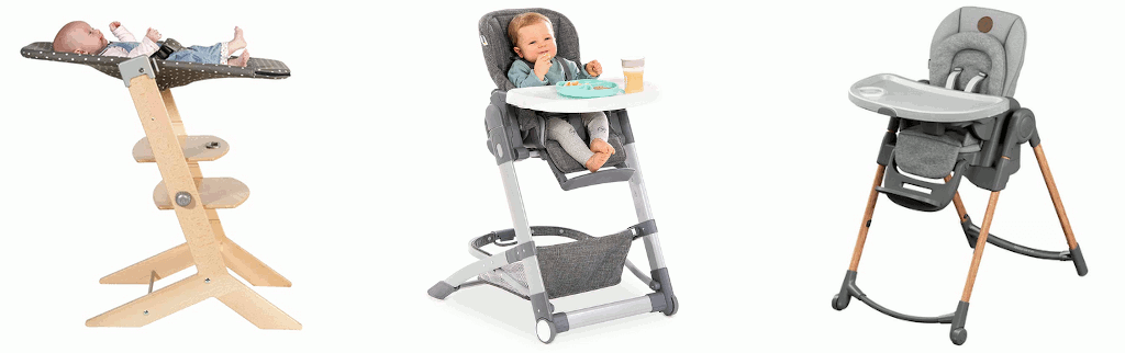 Baby-Hochstuhl mit Liegefunktion